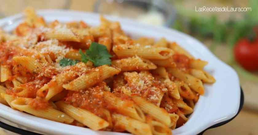 Pasta en salsa de tomate