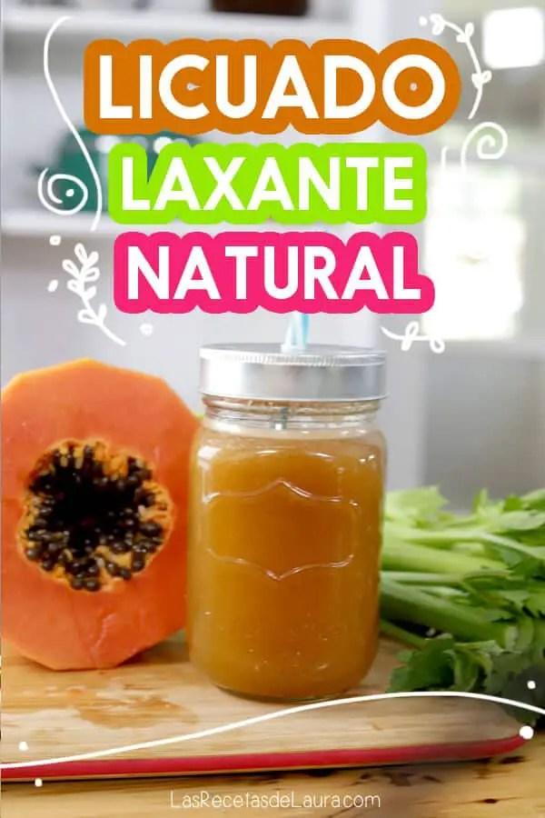 Licuado laxante natural de papaya