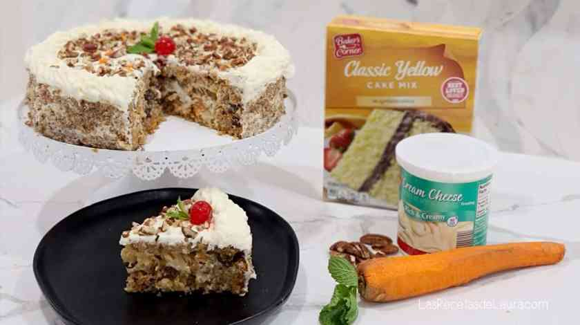 carrot cake with pecans