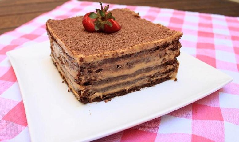 torta de dulce de leche con chocolate borracha