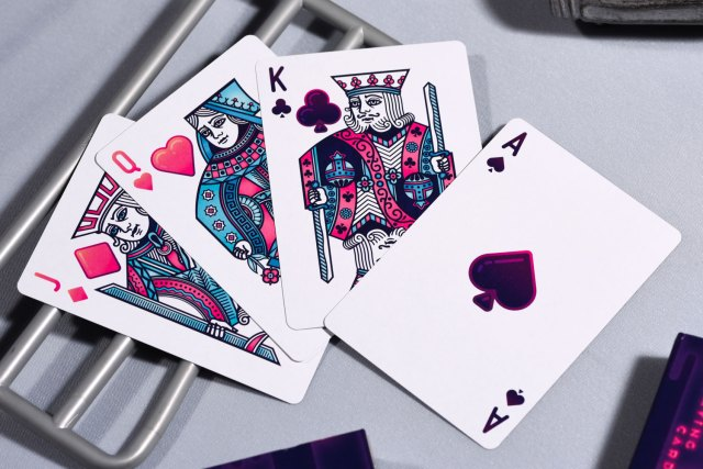 Marbles playing cards faccia