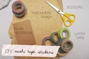 DIY: Washi tape stickers