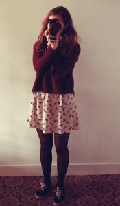 Outfit: bird dress