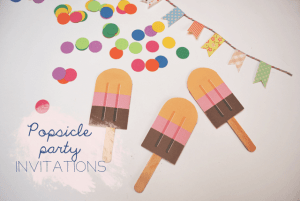 DIY: Popsicle party invitations
