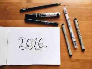 16 of 2016 + schrijfoefening