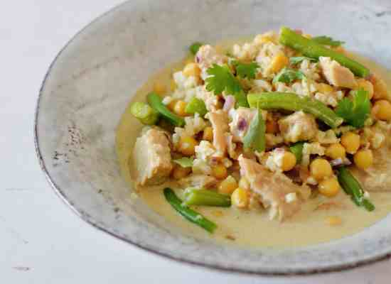 curry met bloemkoolrijst
