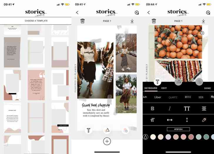 Instagram stories template apps