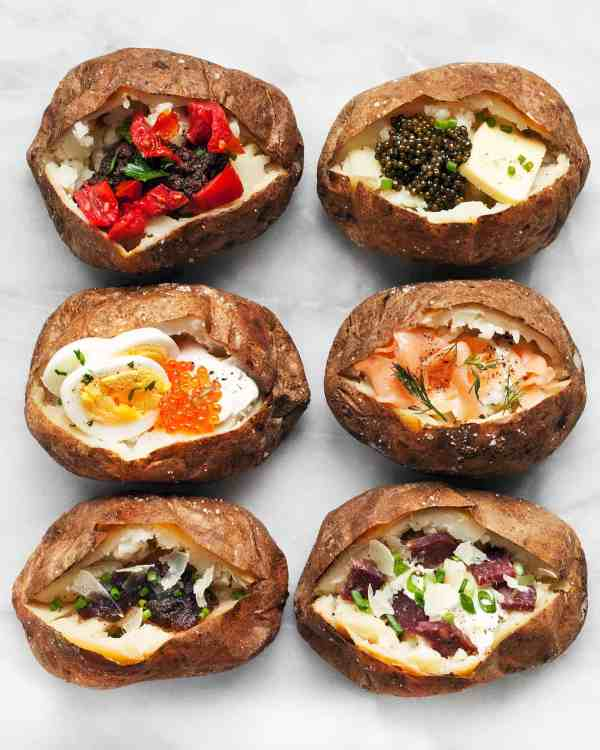 Baked Potato Bar with Caviar, Roe and Smoked Salmon | Last ...
