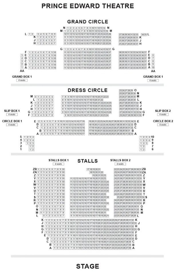 Prince Edward Theatre Seating Plan Miss Saigon ...