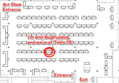 Find me at Table 19 in the Dragon*Con Comics & Pop Artists' Alley!