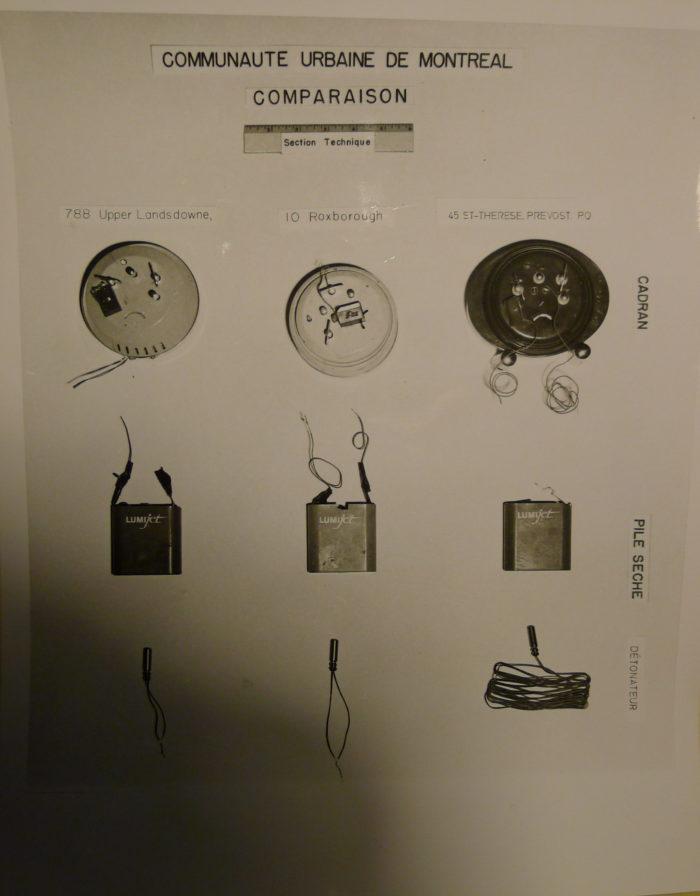 Comparison bomb components