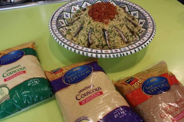 Couscous au pesto de Ouzef, anchois & fines herbes