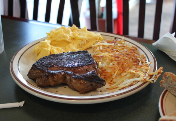 Steak & Eggs - a great value at Norm's