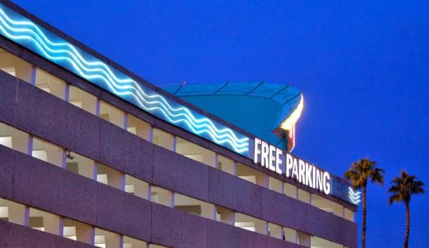 Binon's Free Parking Neon