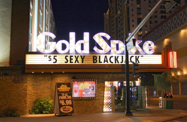 "Gold Spike ""$5 Sexy BlackJack"" in Downtown Las Vegas"