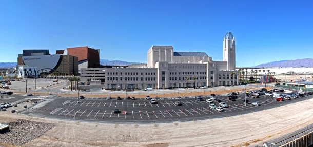 The Smith Center - views from the new City Hall's parking  garage