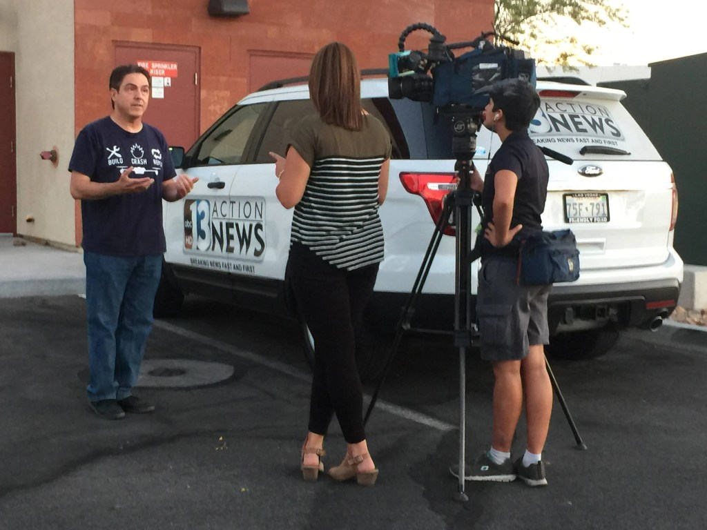 Scott Roeben of VitalVegas.com being interviewed by KTNV