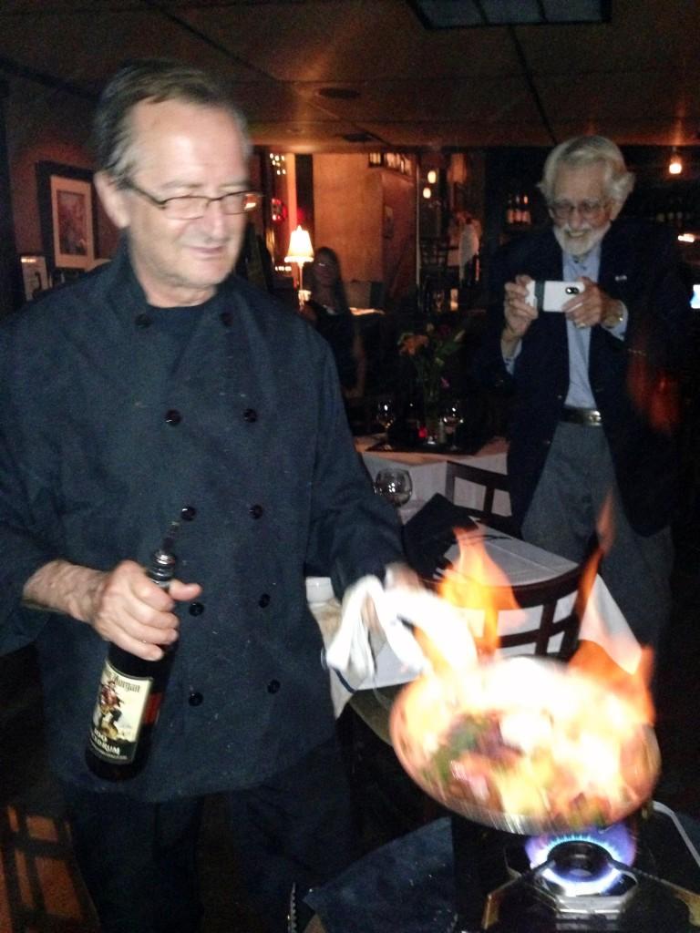 Chef Ignazio Cooking Tableside