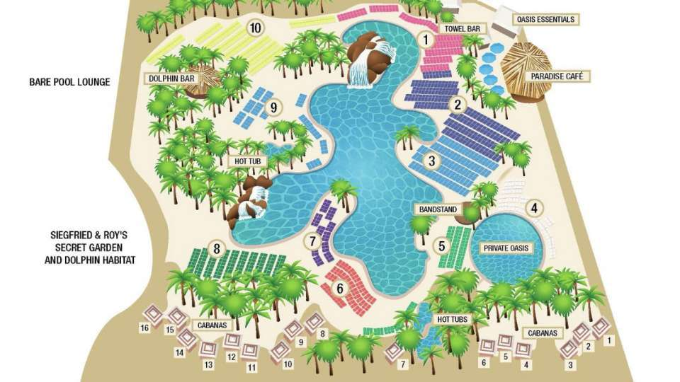 Mirage Las Vegas Pool Map