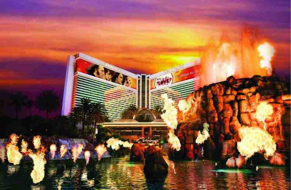 Mirage Las Vegas Volcano