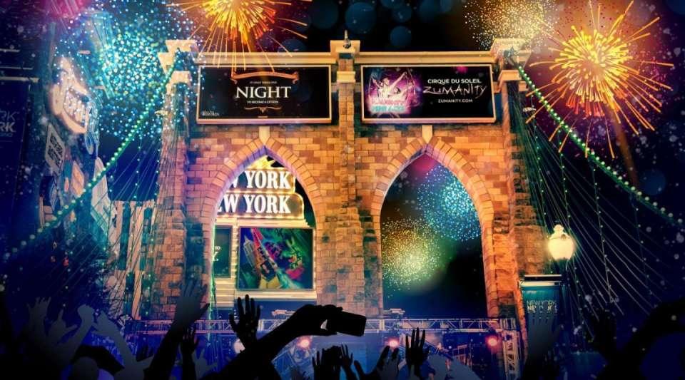 New York New York Las Vegas Bridge Bash New Years Eve 2019