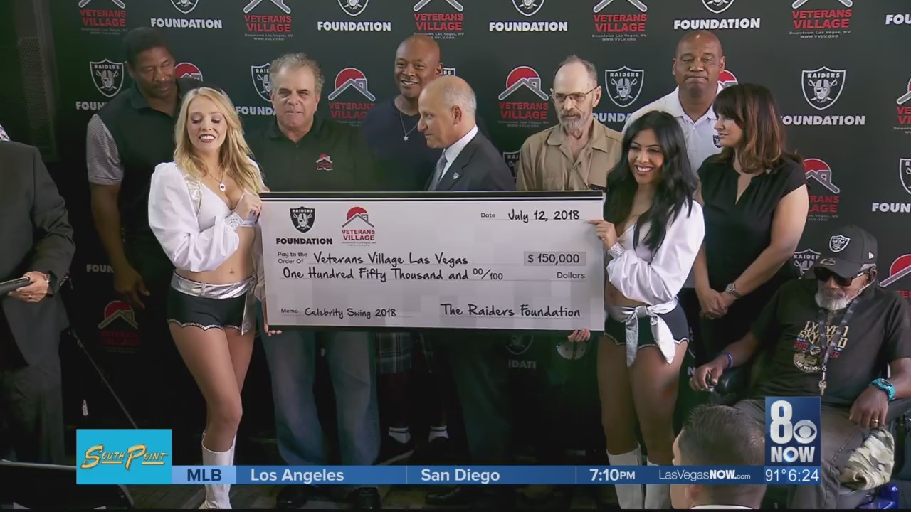 Raiders donate 150k to Veterans Village