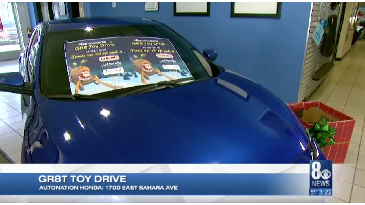 Auto Nation Honda is a partner in the the GR8 Toy Drive