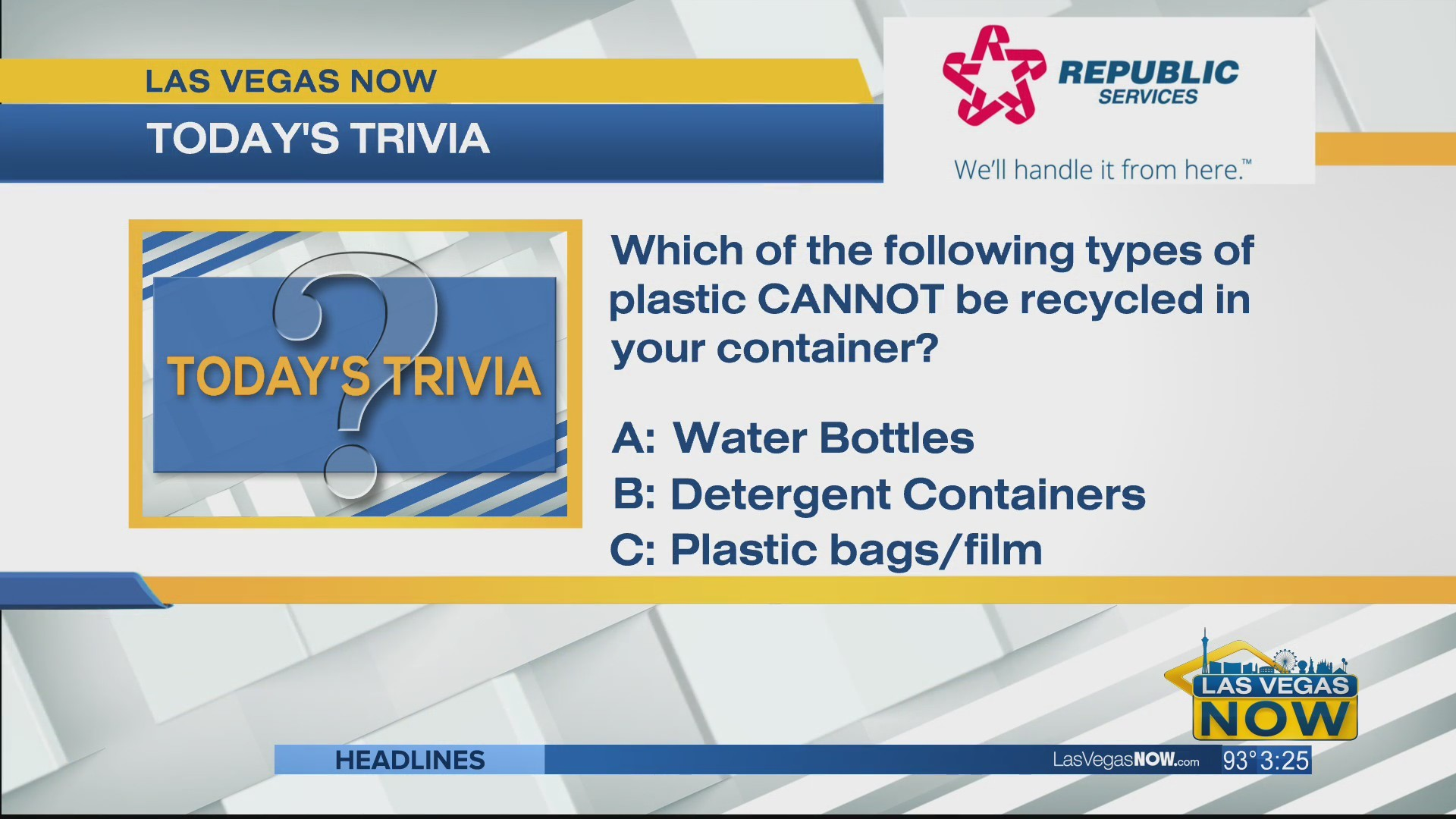 Which types of plastic cannot be recycled in your container?