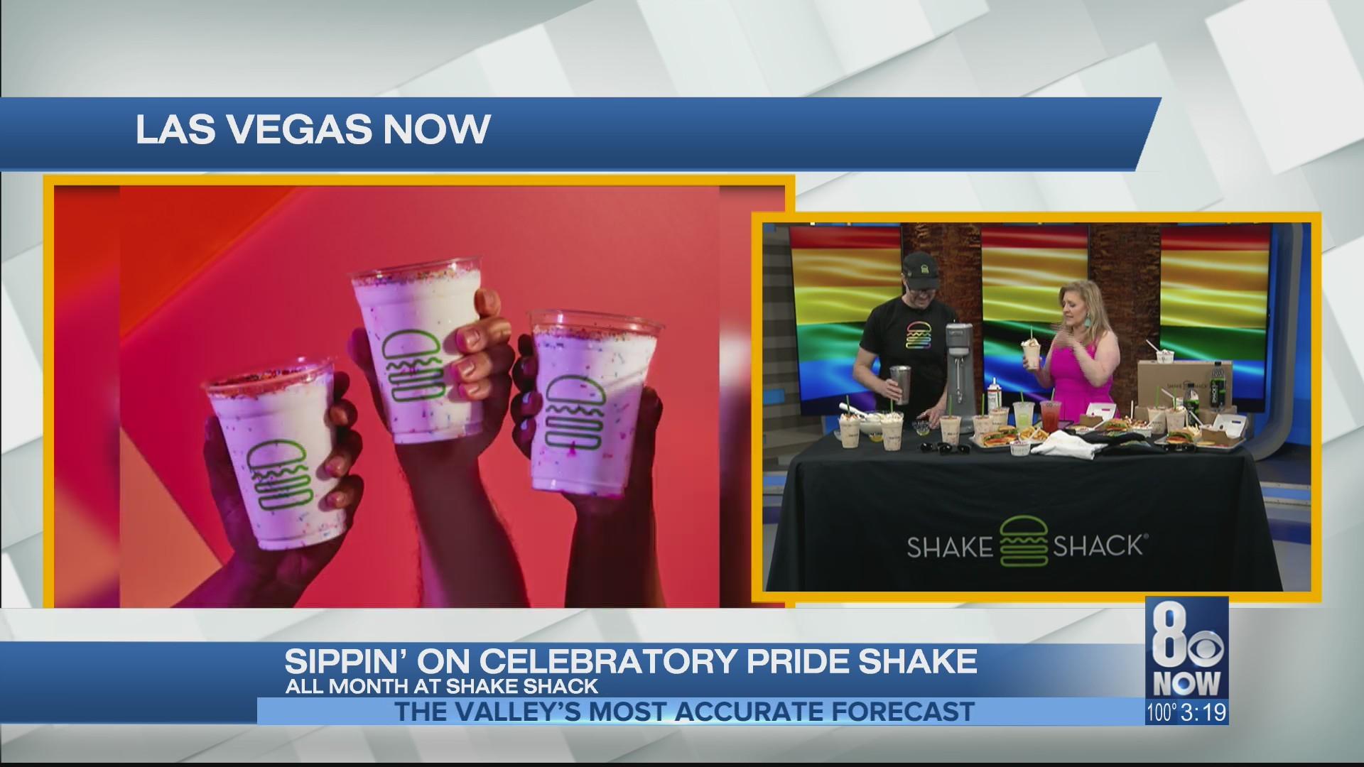 Sippin' on celebratory pride shake with Shake Shack