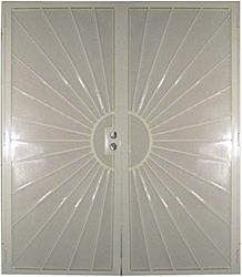 Guarda Security Screen Doors - Sunset French Double Doors