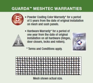 Guarda MeshTec Warranty Information Graphic
