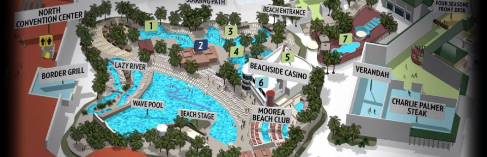 Mandalay Bay las vegas piscine plan