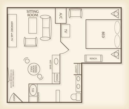 luxor tower luxury suite plan