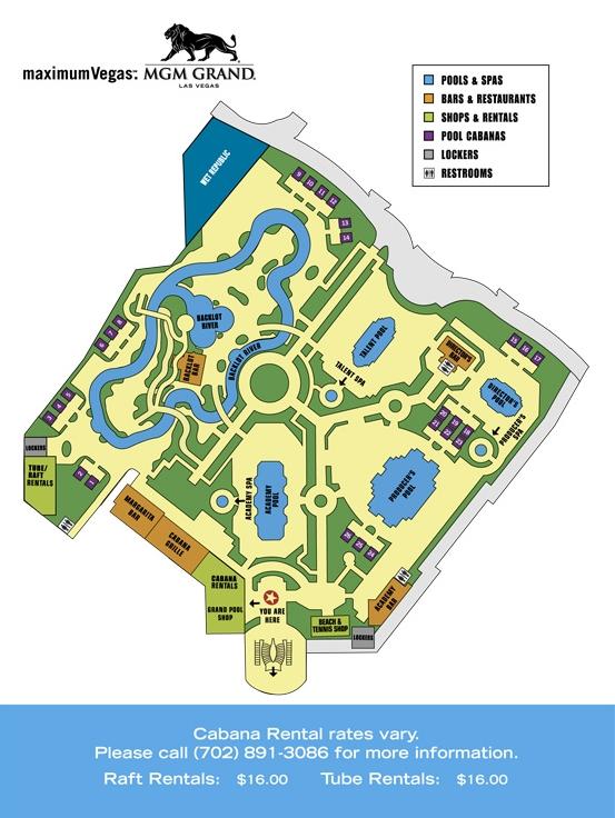 mgm grand piscine plan