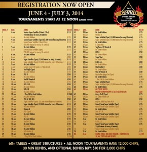programme golden nugget grand poker series 2014