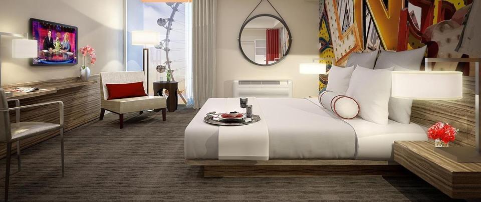 Une chambre du Linq Hotel