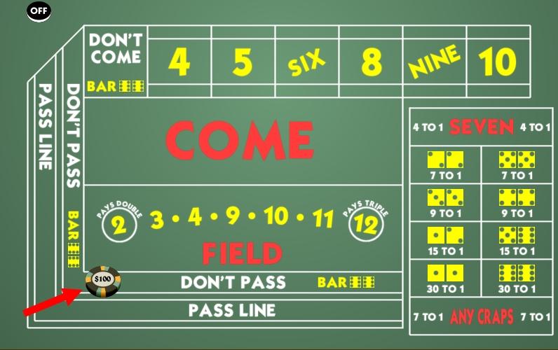 craps don t pass bet