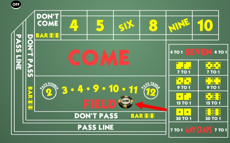 craps field bet
