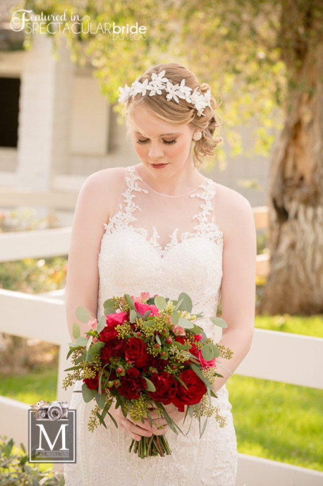 Floral crowns a perfect for any season and bring a fresh twist to any wedding hairstyle.