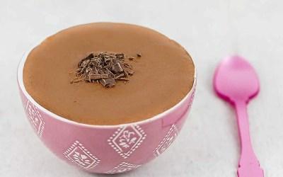 CRÈME AU CHOCOLAT sans gluten, sans lait, avec ou sans sucre, avec œufs