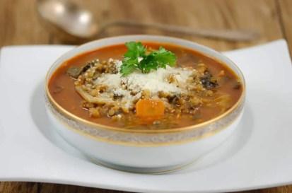 Soupe italienne aux deux lentilles