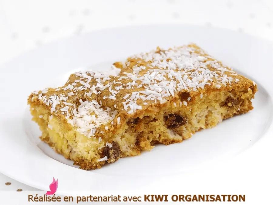 GÂTEAU LÉGER À L'ANANAS sans gluten, sans lait, sans sucre, sans levure