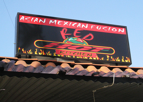 Asian Mexican Fusion Red Hot Kitchen ~ Los Angeles ~ L.A. TACO