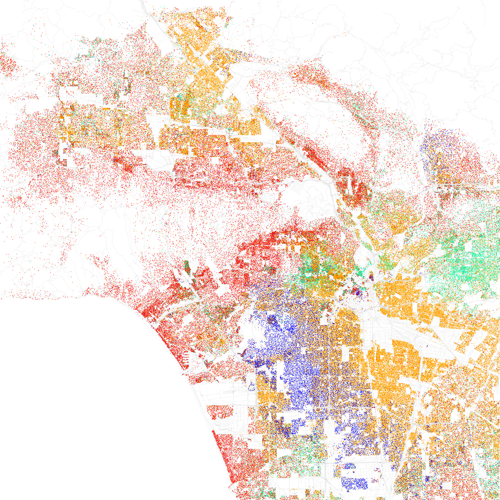 Racial Map Of Los Angeles L A Taco