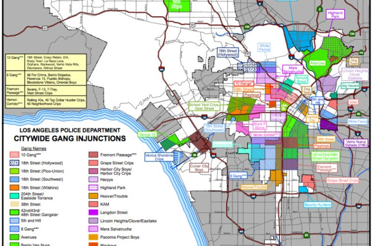 map of lapd citywide gang injunctions la taco