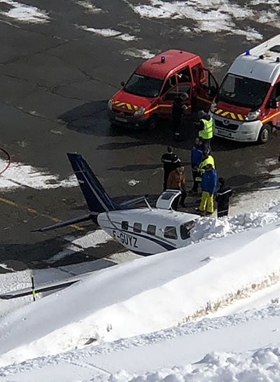 Plane in difficulty at Courchevel Altiport today | The La
