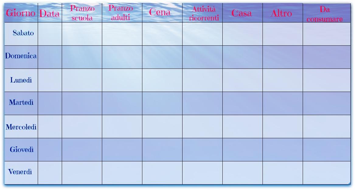 Popolare Planner settimanale da scaricare DQ36