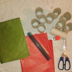 1_occorrente per il calendario dell'avvento con i rotoli di carta igienica