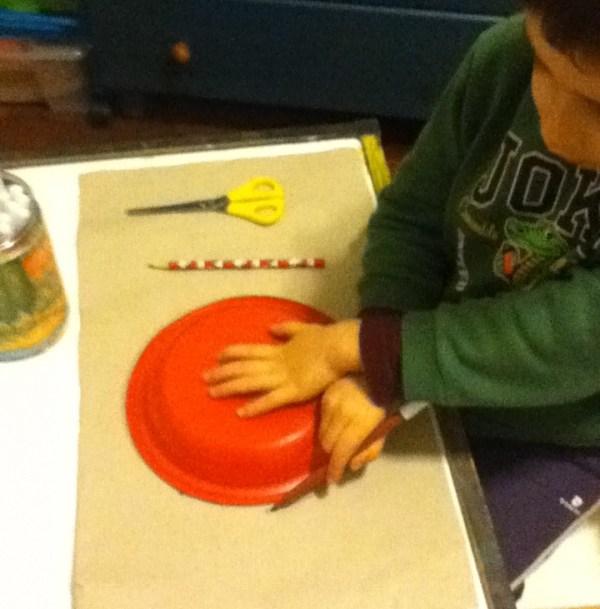 disegnare la sagoma rotonda