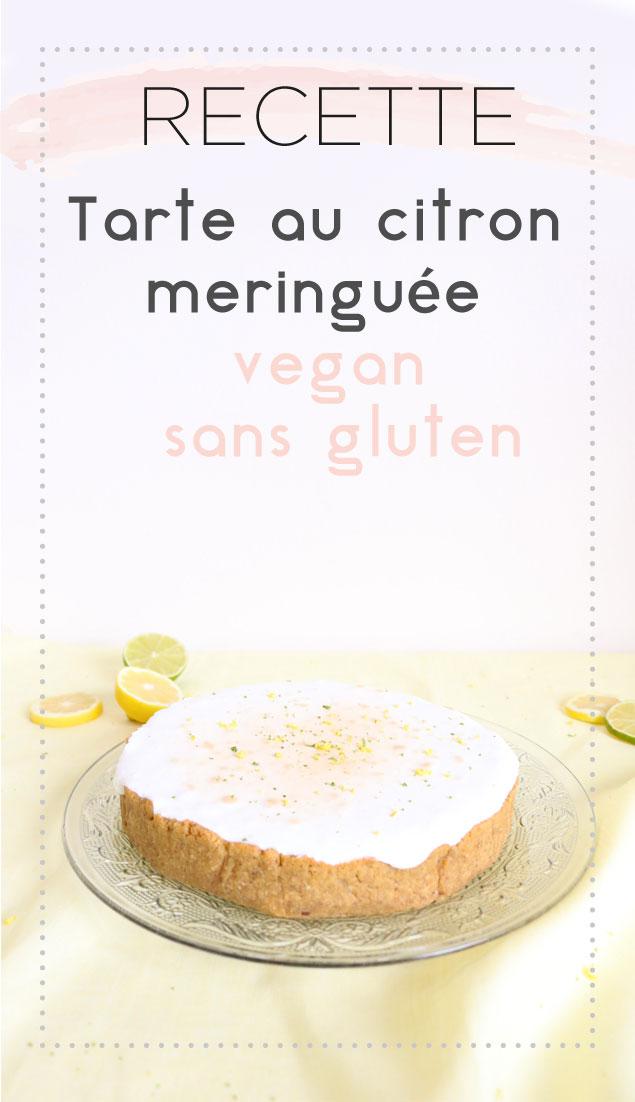 Voici la recette de ma tarte au citron meringuée, vegan et sans gluten. Acidulée et douce !